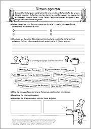 Strom Sparen Grundschule Material