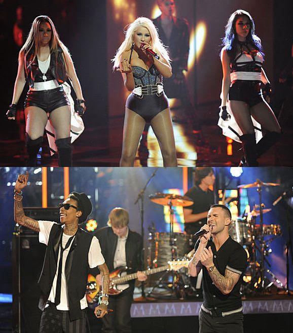 The Voice (4/16/12), Christina Aguilera, Maroon 5