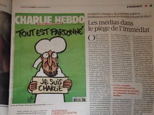 Liberation page showing cartoon