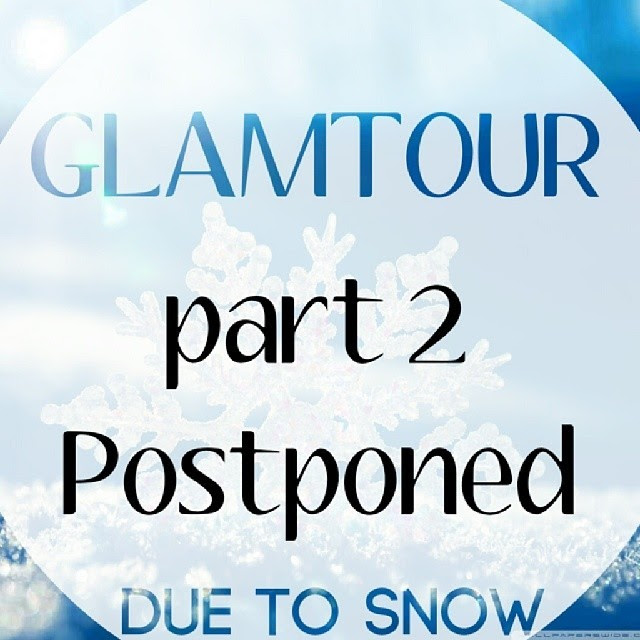 GLAMTOUR 2 of 3 at B… the Salon has been postponed until February 20th due to inclement weather. Sorry for the inconvenience. #snowday #GlamTourofRaleigh #paused not #canceled