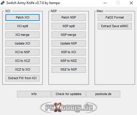Switch Army Knife (SAK) v0.7.6 Released