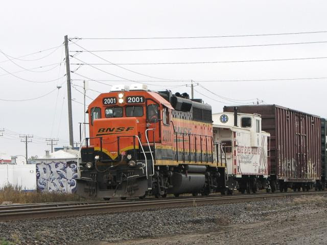 BNSF 2001 in Winnipeg, Oct 15 2009