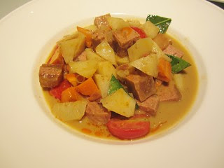 mock beef curry with thai sauce