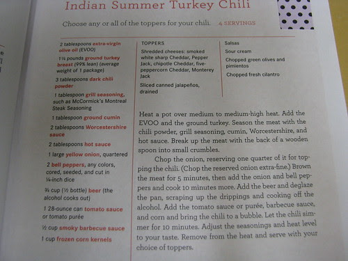 recipe Indian Summer Turkey Chili