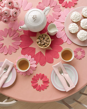 Tea Party Heart Doilies