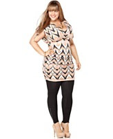 Baby Phat Plus Size Dress, Cap Sleeve Printed Ruched