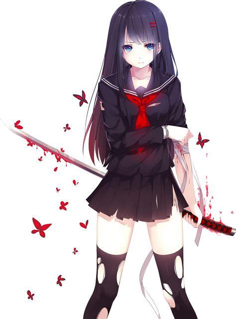 anime girl  png  bloomsama  deviantart