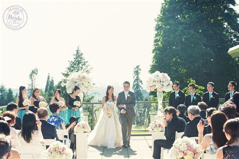 An outdoor wedding ceremony venue with great views. The