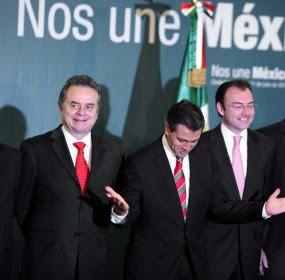 EPN y su equipo de transición: Murillo, Videgaray y Osorio. Foto: Germán Canseco