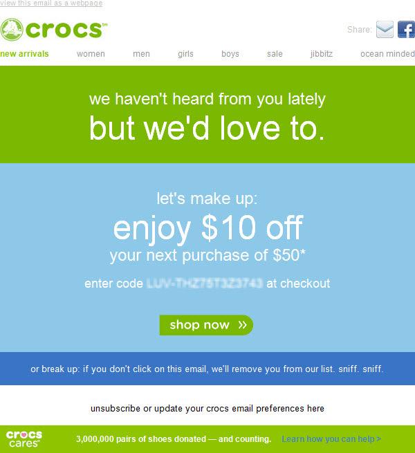 Crocs Winback