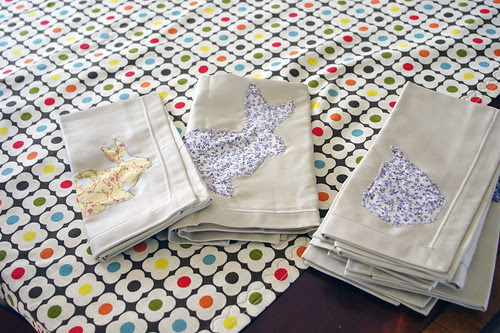 bunny napkins