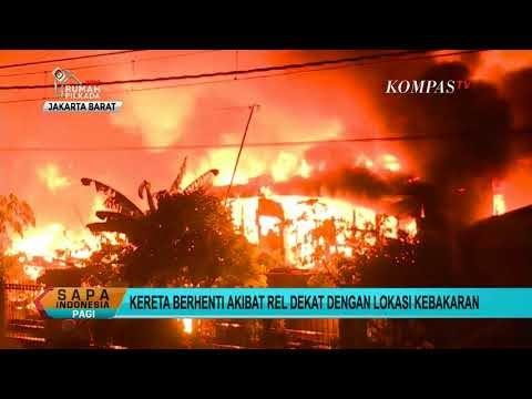 Kebakaran di Kembangan, Penumpang KRL Telantar