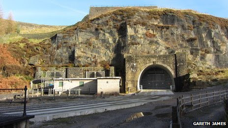 The western end of the Woodhead tunnels