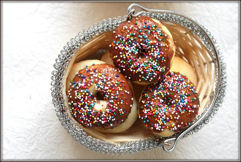 chocolate coated doughnuts