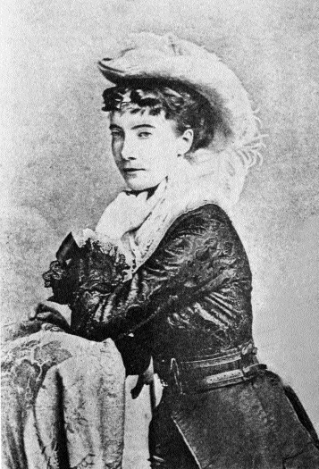 Fanny, in 'mid-western' costume (1878)
