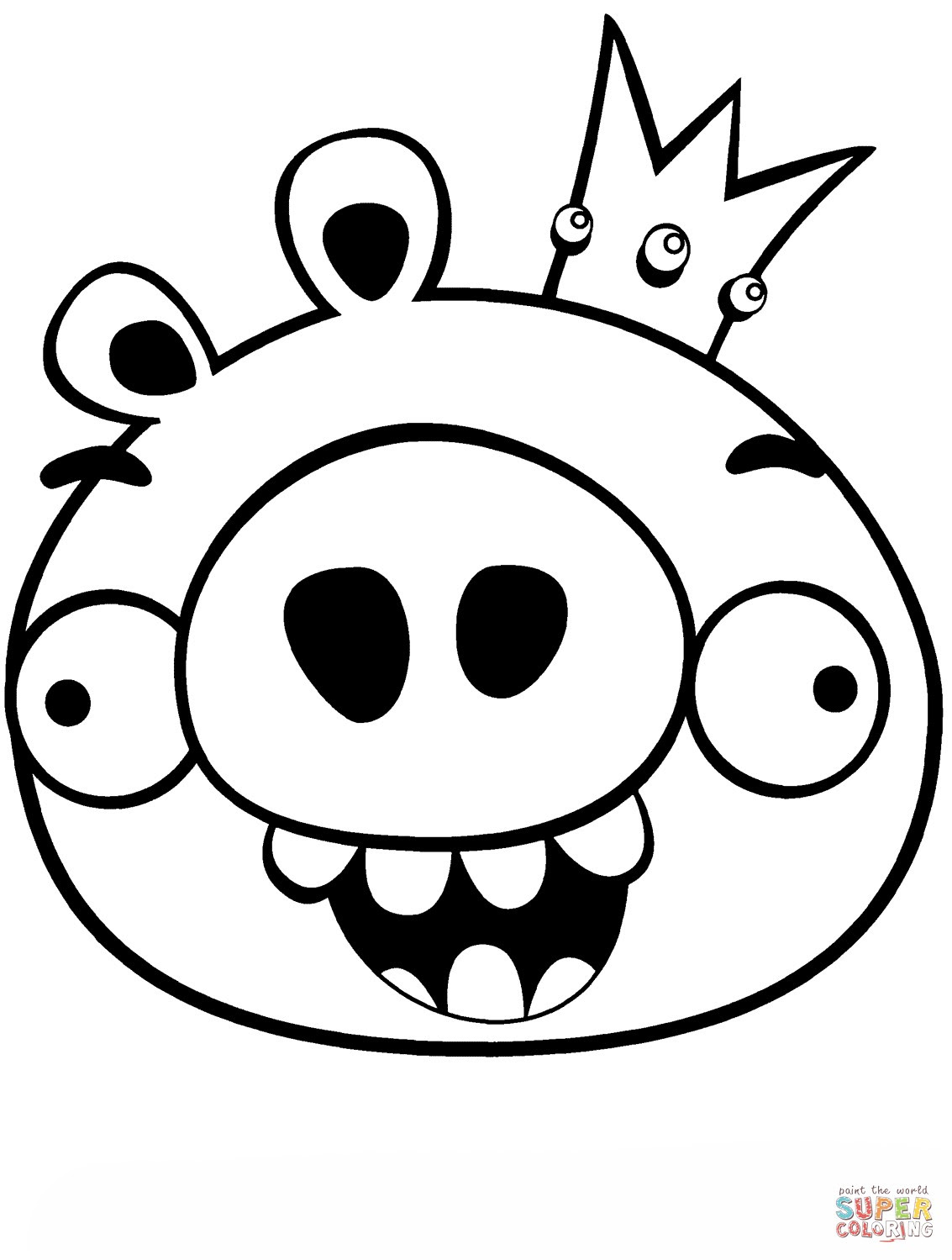 96 Angry Birds Bad Piggies Coloring Pages Images & Pictures In HD