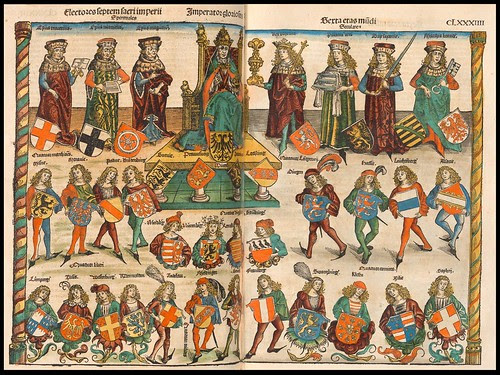 Electores Septum Sacri Imperii Spirituales - Imperato Gloriosus --- Liber Chronicarum, 1493