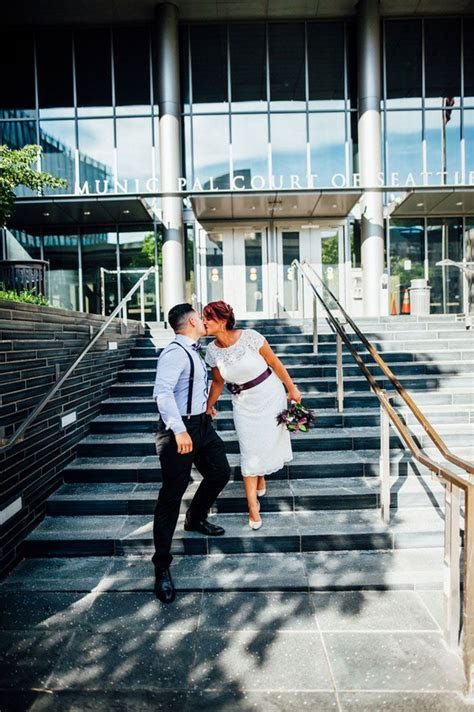 Ruben and Eva's Rooftop Seattle Courthouse Wedding