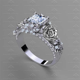 rosa del amor ct princess sterling silver engagement