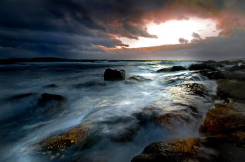 September Portencross Storm 2 by g crawford