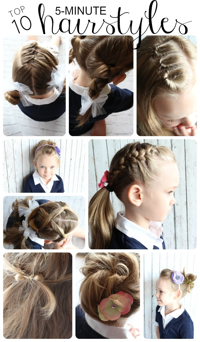Easy Hairstyles For Little Girls - 10 ideas in 5 Minutes ...