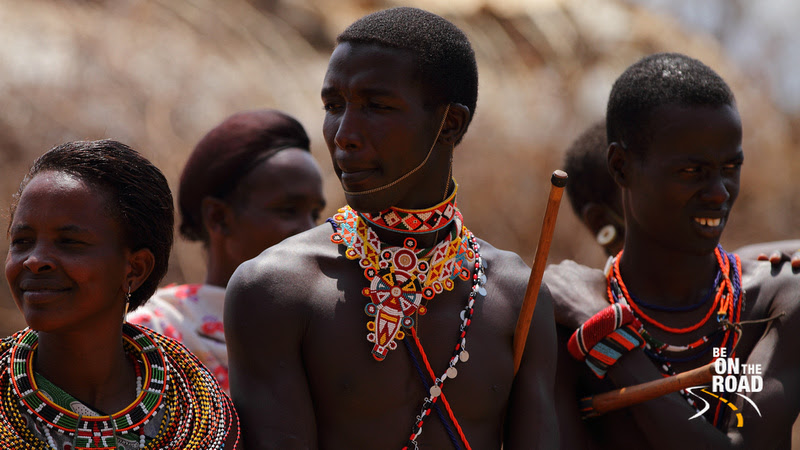 Both Samburu Men and Women adorn rich colour
