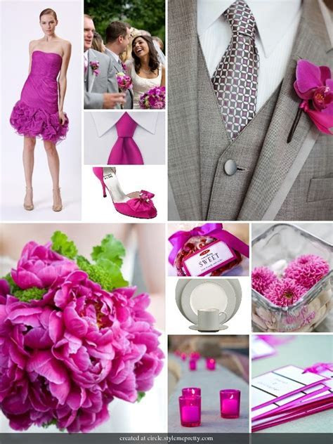 78 Best images about Fuchsia & Grey Wedding on Pinterest