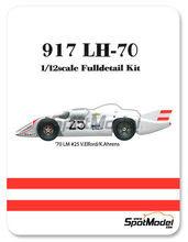 Maqueta de coche 1/12 Model Factory Hiro - Porsche 917LH - Nº 25 - Vic Elford + Kurt Ahrens - 24 Horas de Le Mans 1970 - kit Multimaterial