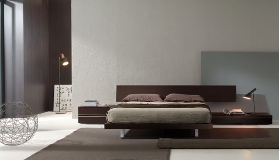 Contemporary Bedroom Layouts with MisuraEmme's Beds   DigsDigs