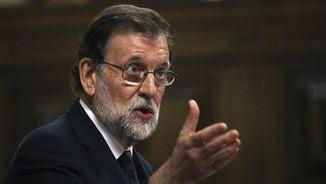 """Rajoy afirma que la moció de censura és una """"paròdia"""" i una """"farsa"""" (EFE)"""