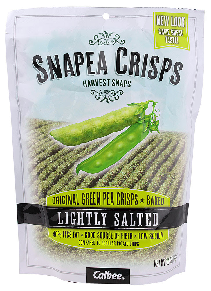 Harvest Snaps, SNAPEA CRISPS, Green Pea Crisps, Baked, Healthy Snack, Lightly Salted