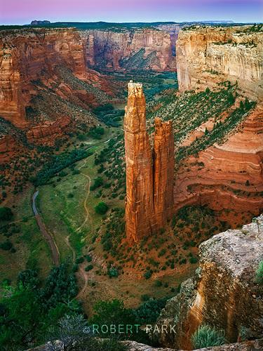 """SpiderRock"" Canyon De Chelly ,Arizona National Park  By Robert Park  http://www.robert-park.com by Robert Park Photography"