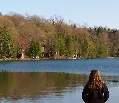 Staring into the lake