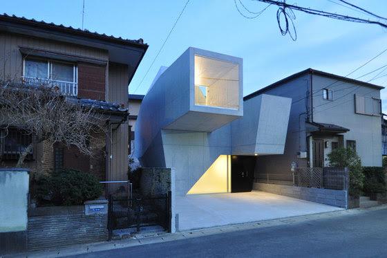 Modern Sculptural concrete japanese house