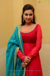 Actress Lisa Ray In Red Dress Photo Gallery