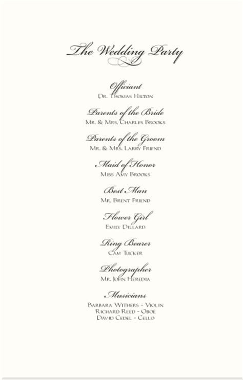 Wedding Programs Wedding Directories Order of Service