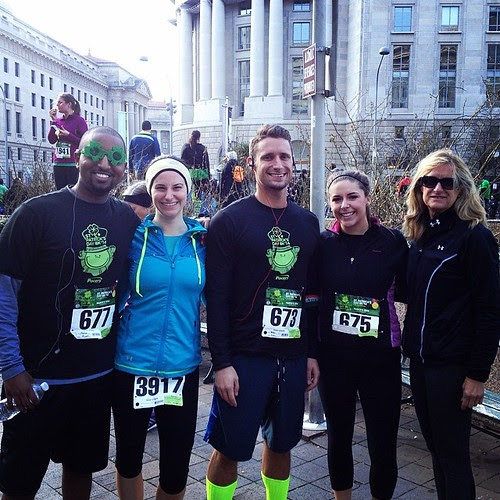 St Pattys day race crew. @rfiora7 @ayyo_abe @jfiora. Put up a really solid time for my first race in 11 months.