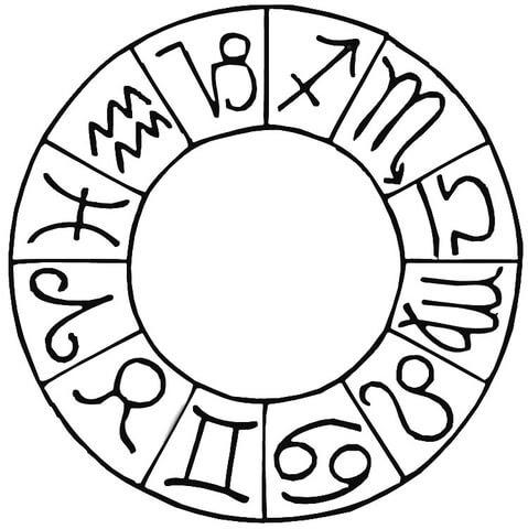 Dibujo De Signos De Zodíaco Para Colorear Dibujos Para Colorear