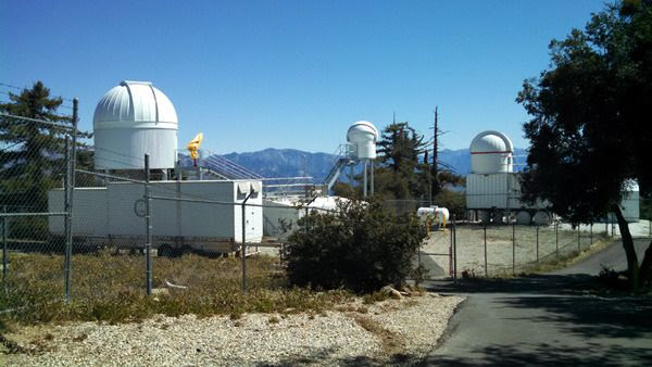 Mini-domes (which are part of the CHARA array? Not sure) at Mount Wilson Observatory...on March 24, 2016.