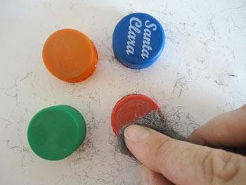 Limpe as marcas das bebidas