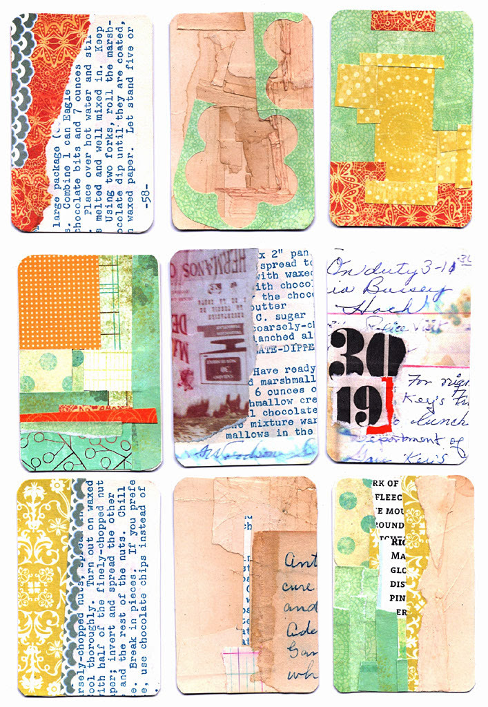 audreysmithart:  These mail art collab cards will be going out in the mail this week to be finished by people all over the US and overseas.
