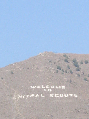 """""""Welcome to Chital Scouts"""" - just in case you didn't know you were in Chitral"""
