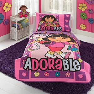 Amazon.com: Dora Satin Toddler Bedding Set: Baby