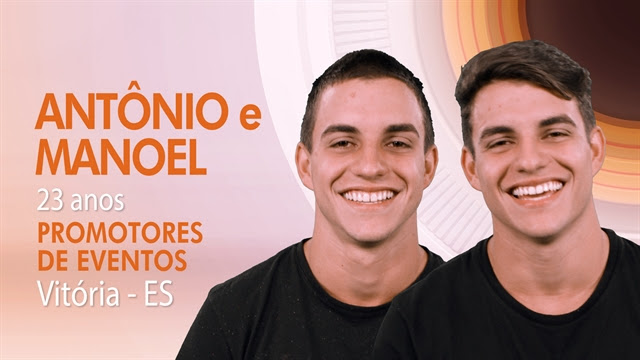 """Os gêmeos Antônio e Manoel, participantes do """"BBB17"""" (Foto: Globo/Divulgação)"""