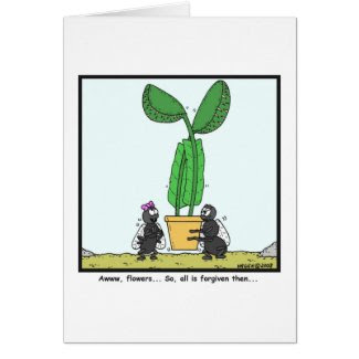 Venus flytrap: Fly cartoon Greeting Card