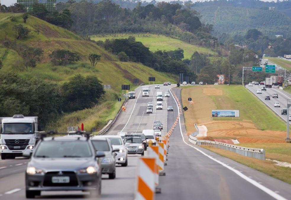 Faixa adicional da Rodovia dos Bandeirantes é liberada no trecho de Jundiaí (Foto: Diogo Moreira/A2img)