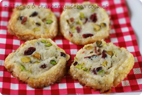 Pistachio and Cranberry Icebox Cookies