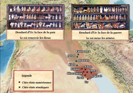 Mésopotamie : les cités-Etats, une carte animée de Vincent Boqueho pour Herodote.net, 2014