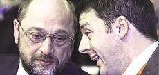 Schulz e Renzi