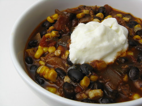 Chicken, Black Bean & Corn Chili